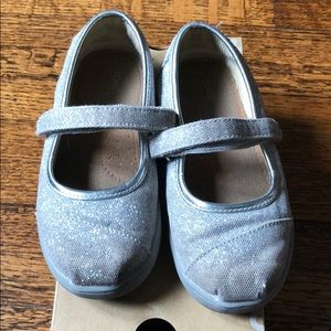 Silver glitter Toms Mary Janes